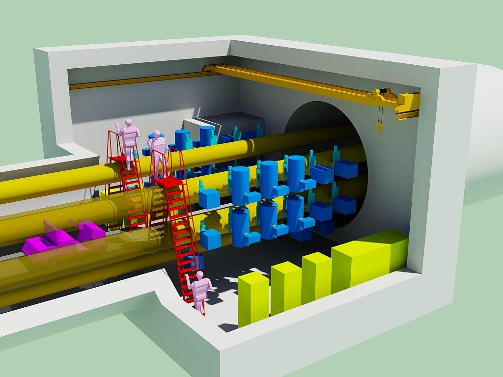 3D view of a pumping station